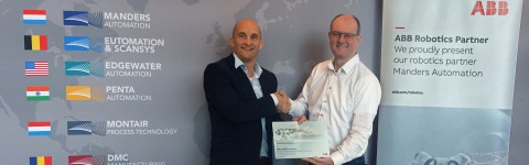 Manders Automation and ABB Robotics sign Partner agreement